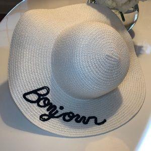 Bonjour Embroidered Sun Hat